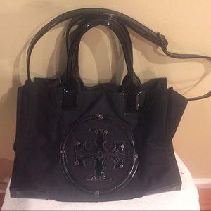 Tory Burch Ella Large Black Nylon Tote Bag